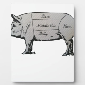 Diagramme de porc plaque photo