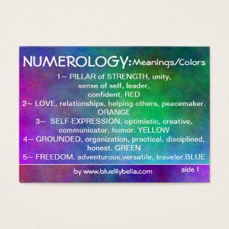 Diagramme de significations de Numerology Cartes De Visite