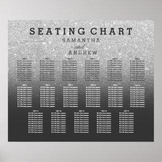 Diagramme gris 17 d'allocation des places d'ombre poster