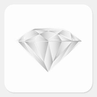 Diamant blanc pour mon chéri sticker carré