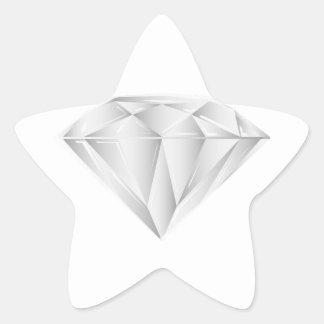 Diamant blanc pour mon chéri sticker étoile