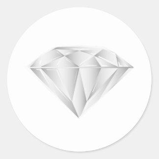 Diamant blanc pour mon chéri sticker rond