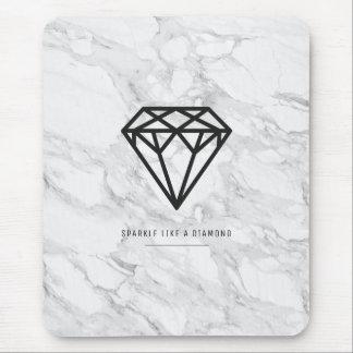 Diamant met Marmer Muismatten
