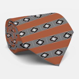 Diamants avec des liens de rayures cravate