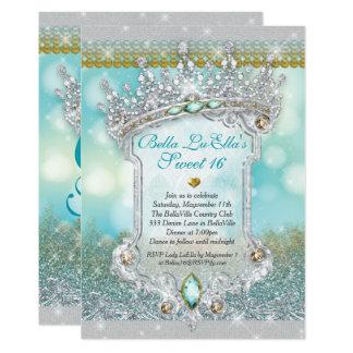 Diamants et invitations de coing du bonbon 16 à