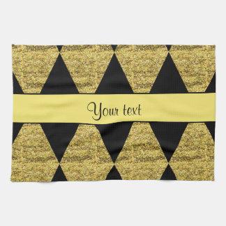 Diamants noirs et jaunes élégants de scintillement serviettes éponge