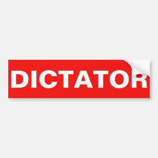 DICTATEUR AUTOCOLLANT DE VOITURE