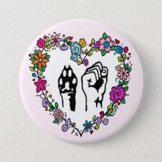Dierlijke rechtenknoop ronde button 7,6 cm