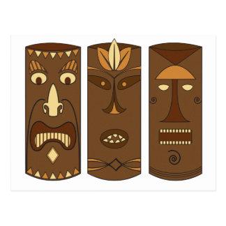 Dieu et déesse de Tiki Carte Postale