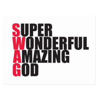 Dieu extraordinaire merveilleux superbe carte postale