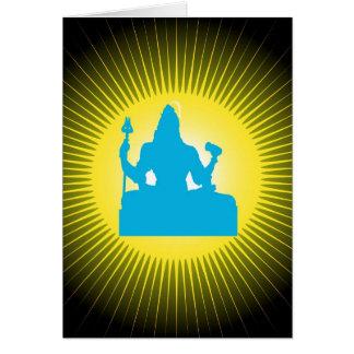 Dieu indien Shiva - carte