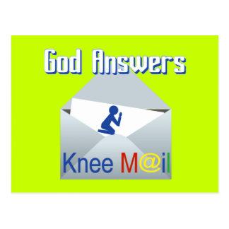 Dieu répond à la carte postale de cadeau de
