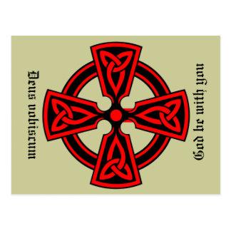 Dieu soit avec vous la carte postale latine de