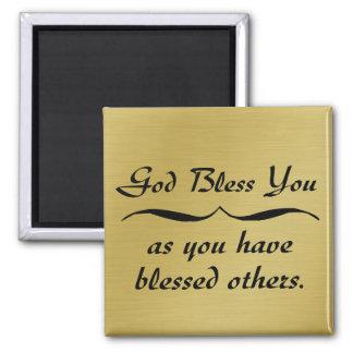 Dieu vous bénissent car vous avez béni d'autres magnet carré