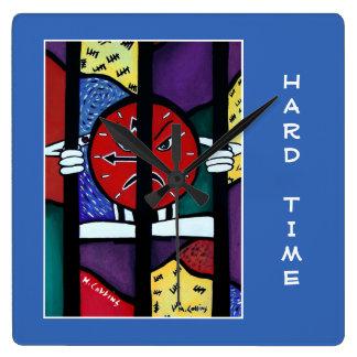 Difficulté sur le bleu - morceaux de temps horloge carrée