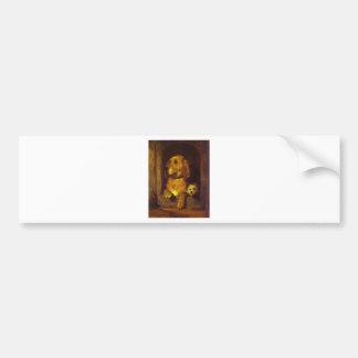 Dignité et impudence par Edwin Henry Landseer Autocollant De Voiture