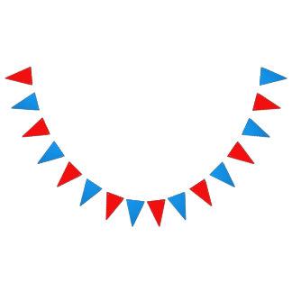 """Dimensions : (16) 5,5"""" x 8"""" drapeaux ; 6' long"""