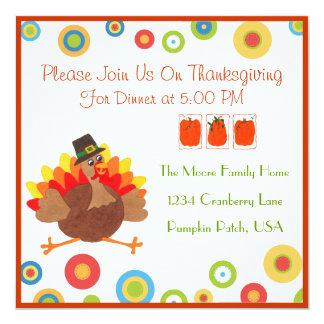 Dîner drôle de thanksgiving de la Turquie - Carton D'invitation 13,33 Cm