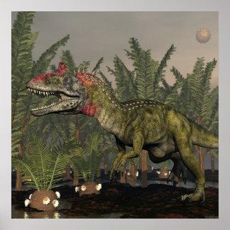 Dinosaure de Cryolophosaurus - 3D rendent Poster