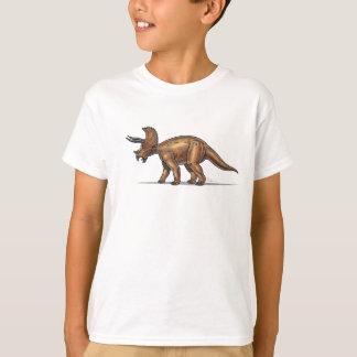 Dinosaure de Triceratops de T-shirt d'enfants