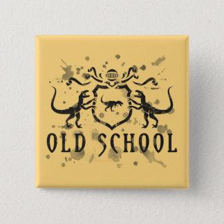 Dinosaure d'encre de vieille école badge carré 5 cm