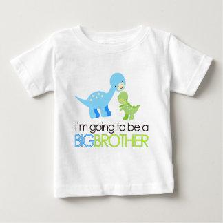 Dinosaure je vais être un frère t-shirt pour bébé