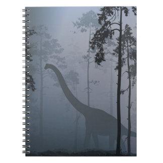Dinosaure par le carnet de clair de lune
