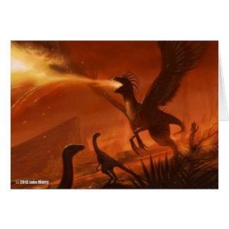 Dinosaure préhistorique de Feu-Respiration par Carte De Vœux