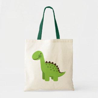 Dinosaure vert mignon sac en toile budget