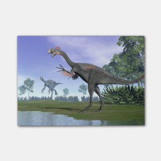 Dinosaures de Gigantoraptor en nature - 3D rendent Post-it®