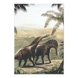 Dinosaures vintages, Amargasaurus avec des Carton D'invitation 8,89 Cm X 12,70 Cm