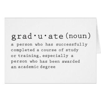 diplômé carte de vœux