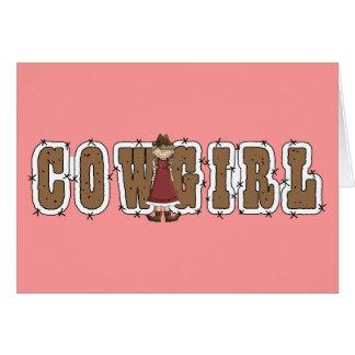 Diplômé de cow-girl - occidental carte de vœux