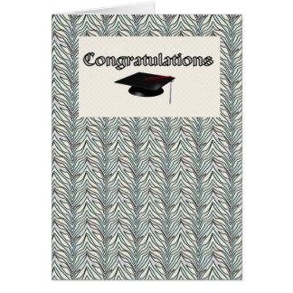 Diplômé de félicitation carte de vœux