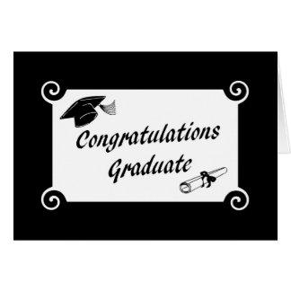 Diplômé de félicitations avec la carte de