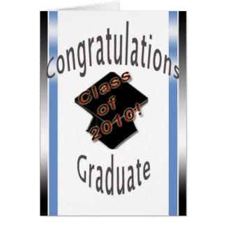 Diplômé de félicitations carte de vœux