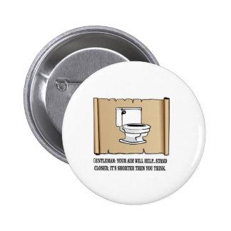 dire de toilette badge rond 5 cm