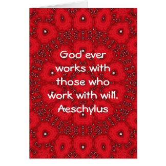 Dire inspiré de citation d'Aeschylus Carte