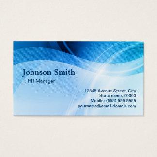 Directeur d'heure - créatif bleu moderne cartes de visite