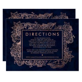Direction rose florale de mariage d'aquarelle de carton d'invitation 8,89 cm x 12,70 cm