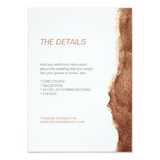 Direction simple moderne de mariage de couleur de carton d'invitation  11,43 cm x 15,87 cm