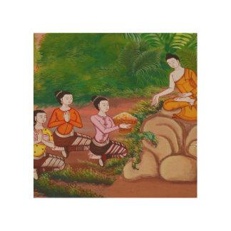 Disciples d'art de panneau de mur de Bouddha