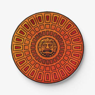 Disque aztèque assiettes en papier