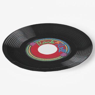 Disque de rock assiettes en papier