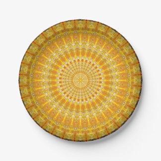 Disque d'or de mandala de secrets assiettes en papier