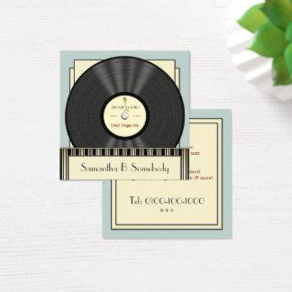 Disque vinyle classique vintage carte de visite carré