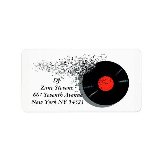 Disque vinyle de jockey de disque du DJ de Étiquettes D'adresse