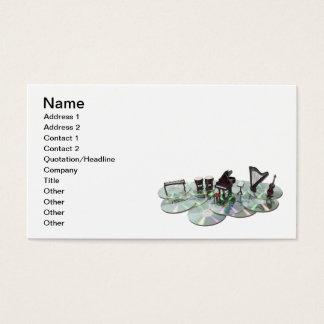 Disques de musique cartes de visite