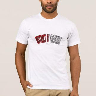 District de Columbia Dans des couleurs de drapeau T-shirt