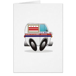 DISTRICT DE COLUMBIA de camion de courrier Carte De Vœux